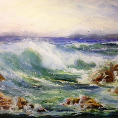 jackie Littlejohn- sea of Wembury